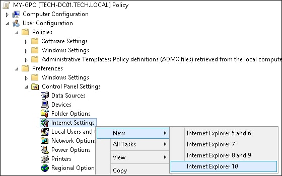 GPO - Proxy configuration