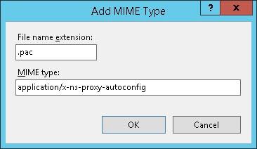 IIS - Proxy Auto-configure script