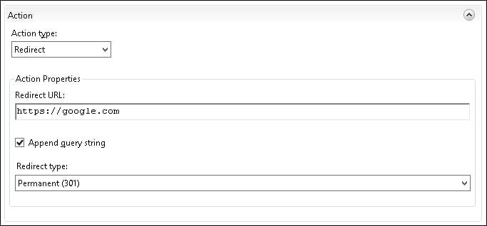 IIS Redirect URL