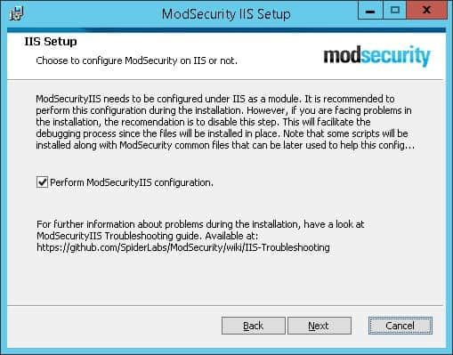 Modsecurity IIS Setup