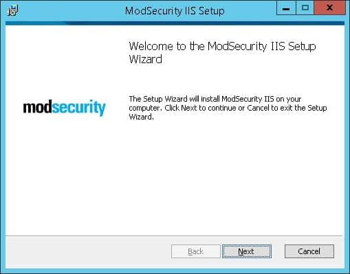 Modsecurity installation Windows