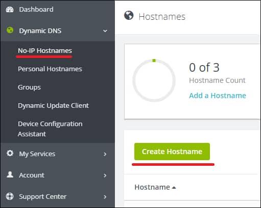 NOIPDNS Create Host
