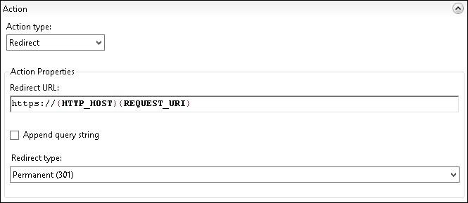 Redirect HTTP to HTTPS - IIS