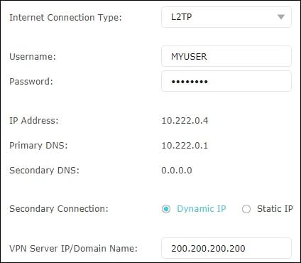TP-Link - VPN Client configuration