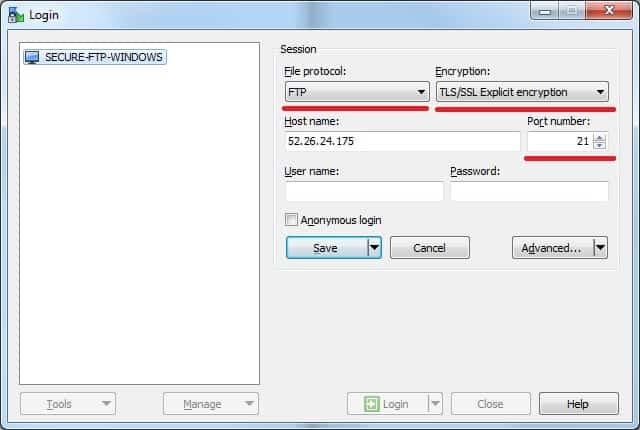 WINDOWS - Secure FTP Client