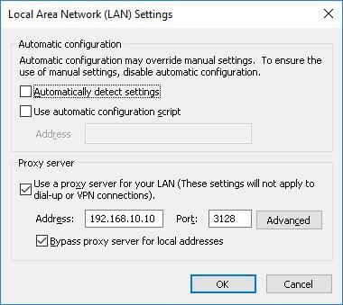 Windows - Proxy configuration using GPO