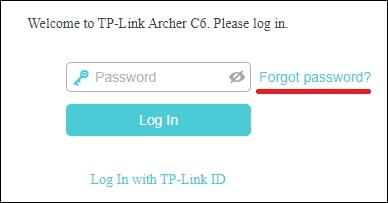 AC1200 Password recovery