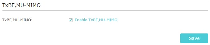 AC1200 - TxBF MU-MIMO Configuration