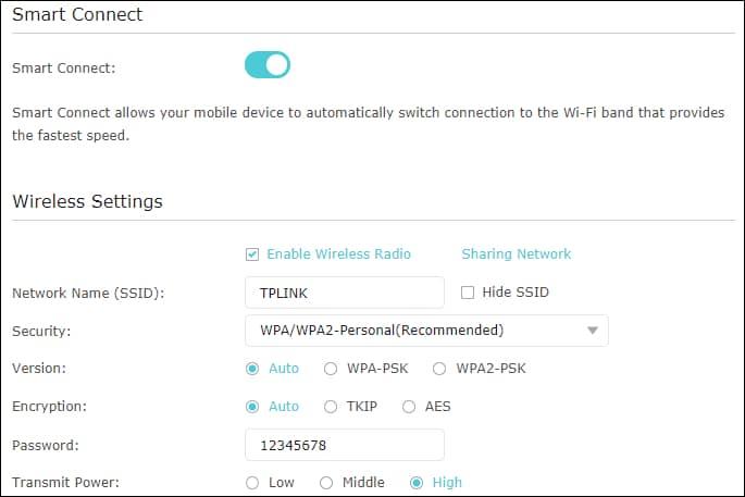 ARCHER A7 1750 - Wireless configuration
