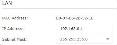 ARCHER A7 - Network configuration