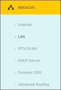 ARCHER A7 - Network menu