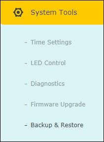 ARCHER C6 - Backup menu