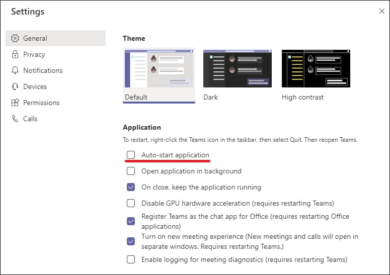 Disable Microsoft Teams automatic Startup