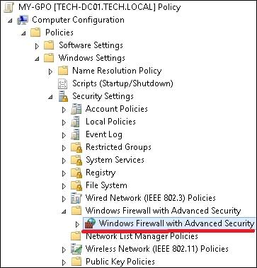 GPO - Enable Windows Firewall