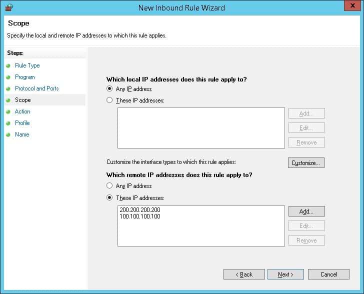 GPO - Firewall Whitelist IP address 04