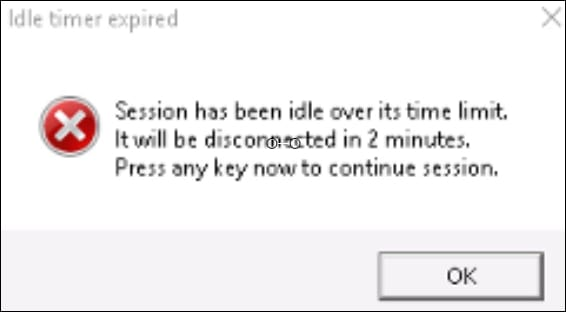 GPO - Remote desktop inactive session warning