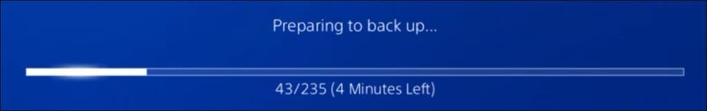 PS4 - Backup