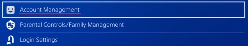 Playstation 4 - Account management