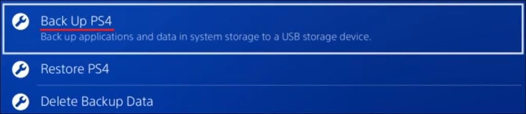 Playstation 4 Backup