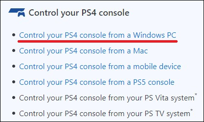 Playstation - Remote play on Windows