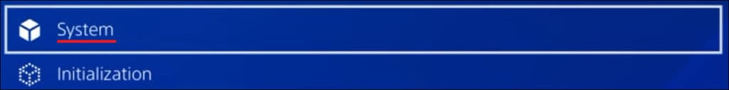 Playstation - System menu
