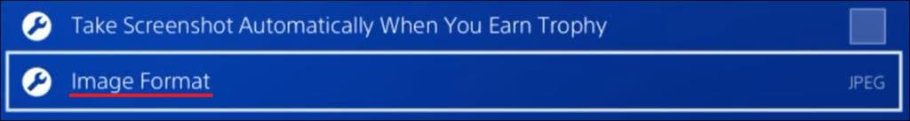 Playstation - screenshot image format
