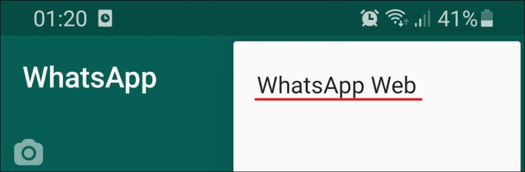 Whatsapp web on Computer