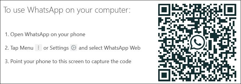 Whatsapp web on Windows