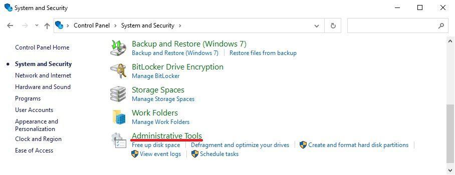 Windows 10 - Administrative tools - RSAT