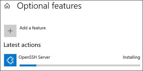 Windows - Install openssh server