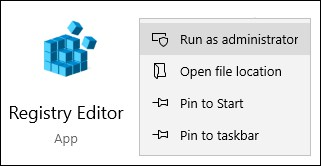 Windows - Regedit - Registry editor