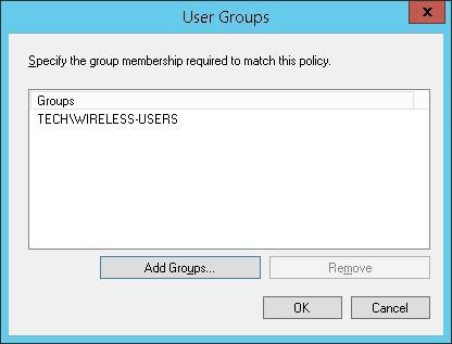 Windows radius Wireless users