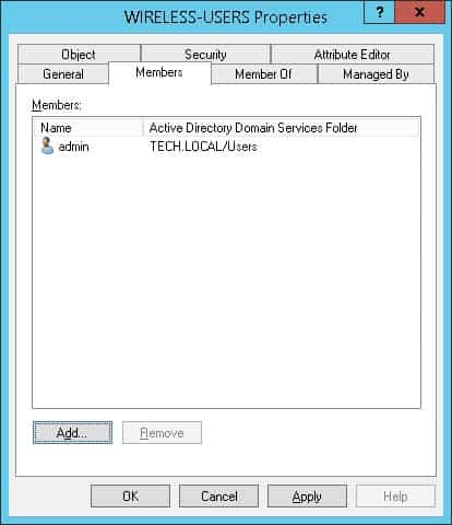 Wireless users Active directory