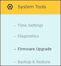 ARCHER-C20 Firmware update menu