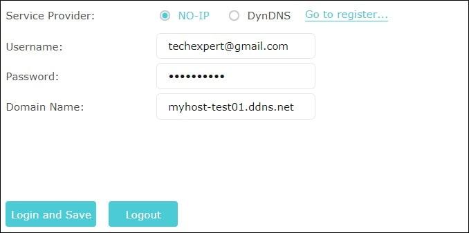 Archer AC750 DYNAMIC DNS