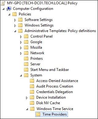 GPO - NTP client configuration