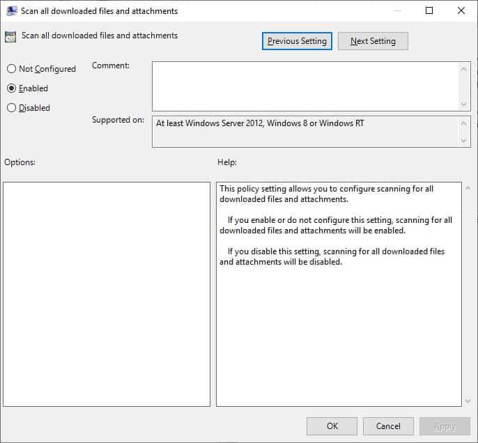 GPO Windows Defender - Scan all downloads