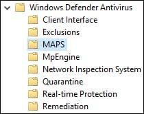 GPO - Windows defender MAPS