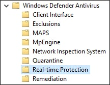 GPO - Windows defender real-time protection