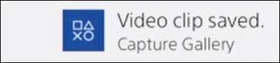 Playstation - Saving a video clip