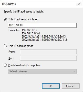 Windows firewall - Block IP address