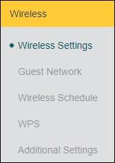 Archer X10 - Wireless menu