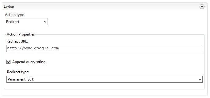 IIS - HTTP REDIRECT URL