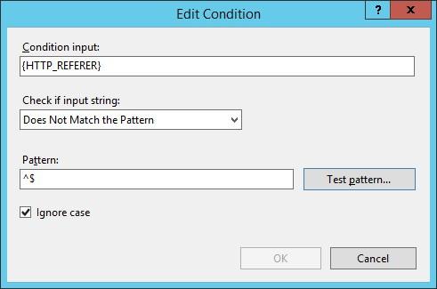 IIS - Hotlinking allow direct access