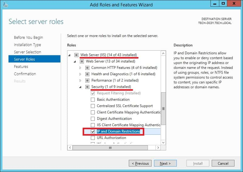 IIS - IP Restriction feature