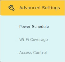 TP-LINK Repeater - Power schedule