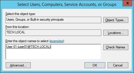 GPO - Configure user account
