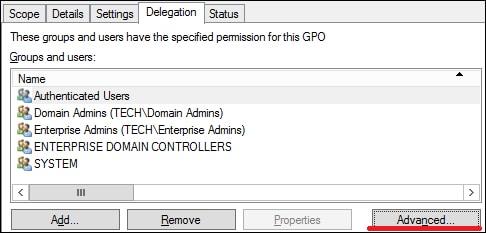GPO - Delegation Advanced