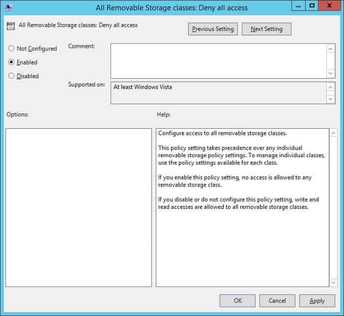 GPO - Deny USB Storage access