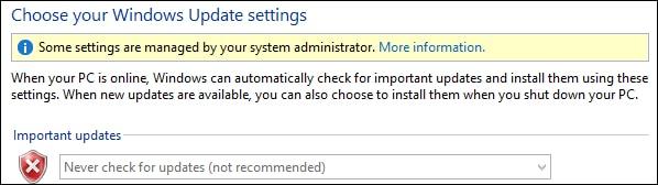 GPO - Disable Windows Update